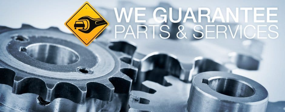 We guarantee all parts and services